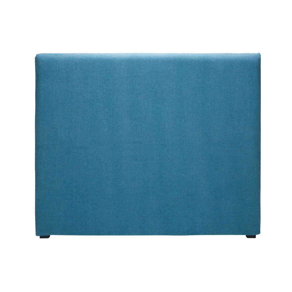 Housse de t te 140 de lit en tissu bleu cobalt morphee maisons du monde - Housse tete de lit 140 ...