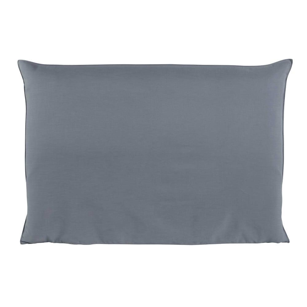housse de t te de lit 160 bleue soft maisons du monde. Black Bedroom Furniture Sets. Home Design Ideas