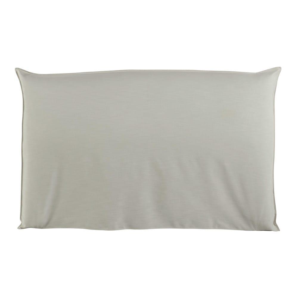 Housse de t te de lit 180 crue soft maisons du monde - Cotecosy tete de lit ...