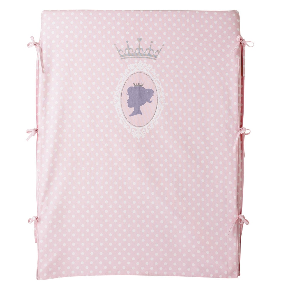 Housse de t te de lit 90 cm en coton rose dream princesse for Housse tete de lit