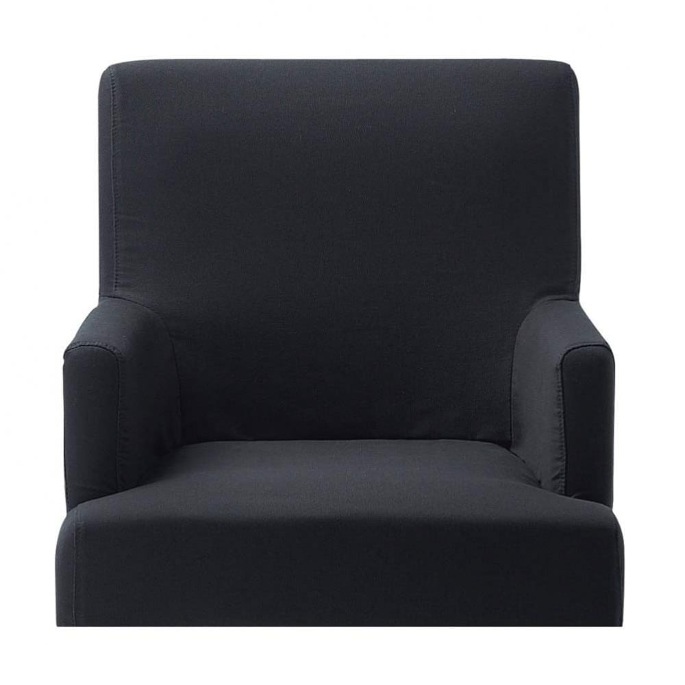 housse grise fauteuil de bar lounge maisons du monde. Black Bedroom Furniture Sets. Home Design Ideas