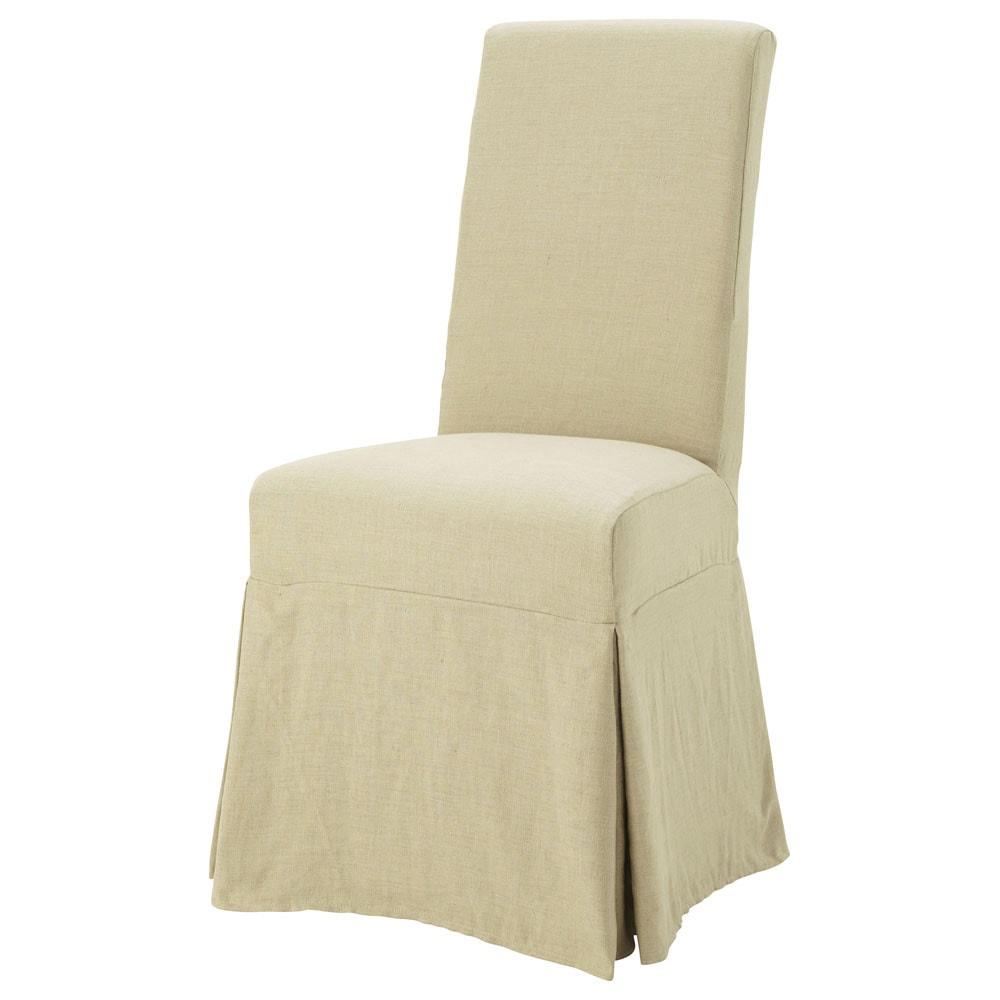 Housse lin ficelle margaux maisons du monde - Housse chaise lin ...