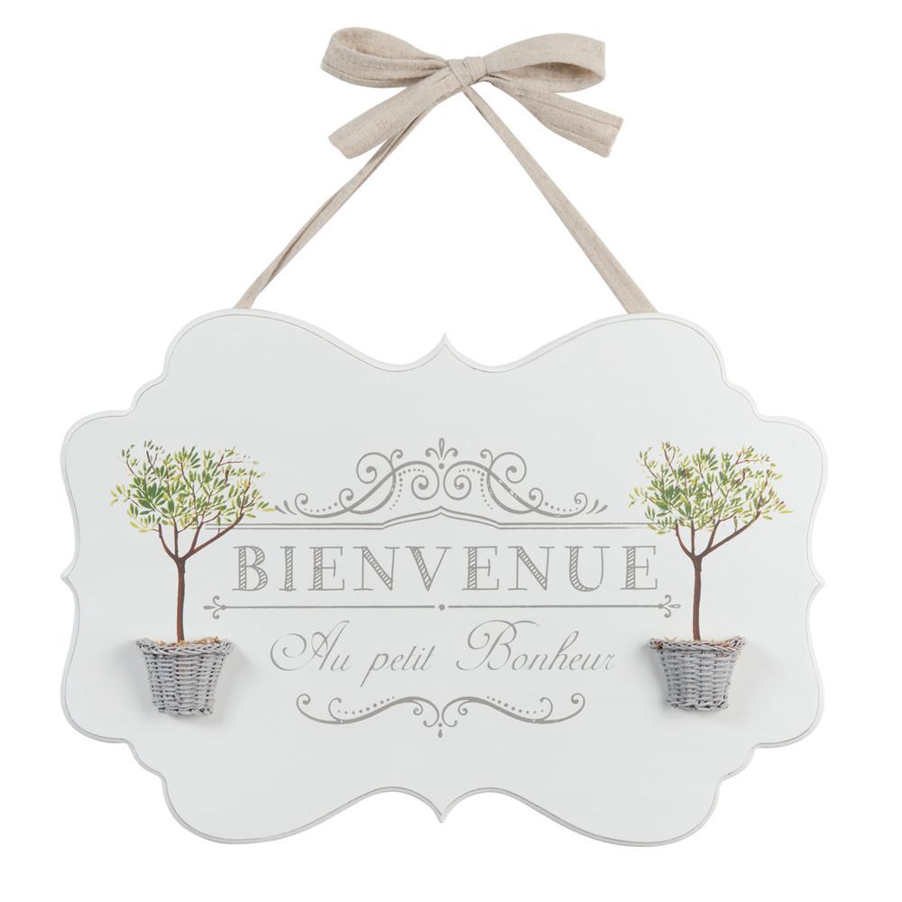 Houten bienvenue bord met olijfbomen 30 x 43 cm maisons for Cuadros la maison du monde
