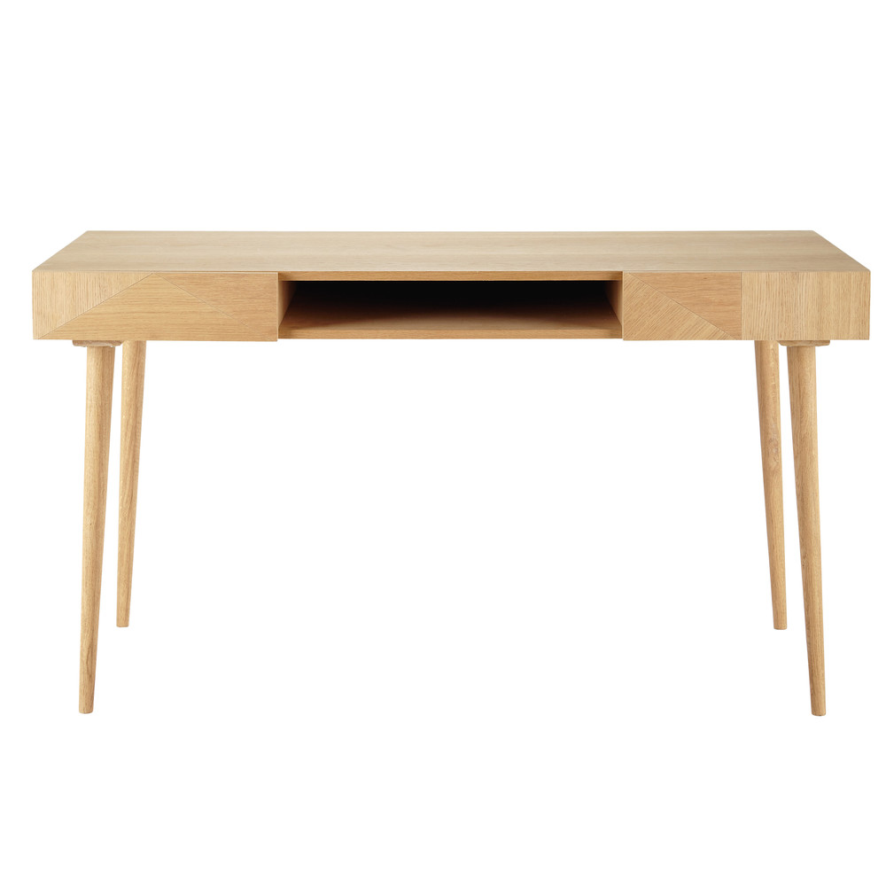 houten bureau breedte 140 cm origami maisons du monde. Black Bedroom Furniture Sets. Home Design Ideas