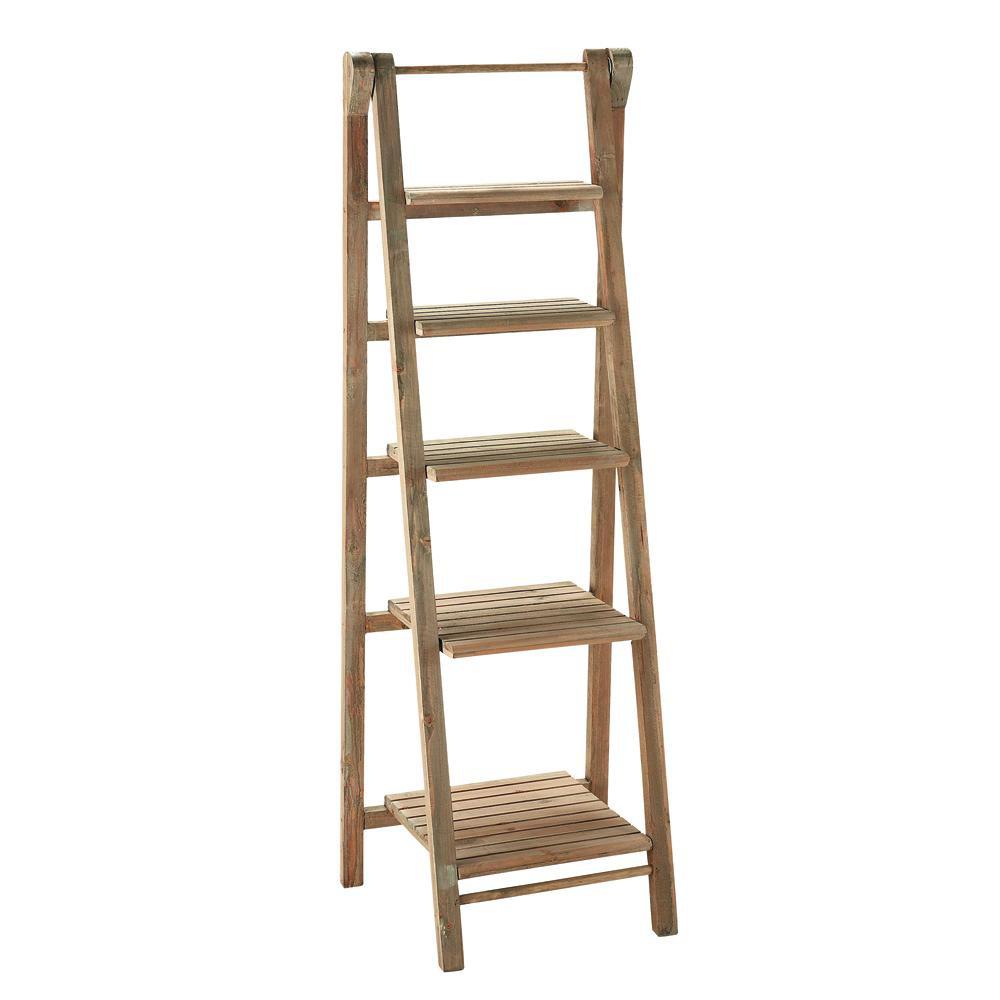 Houten ladder rek b 46 cm freeport maisons du monde - Deco hout ...