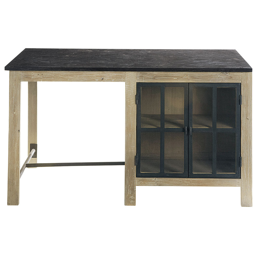 Lot central en bois recycl l 150 cm copenhague maisons for Maison du monde meuble cuisine