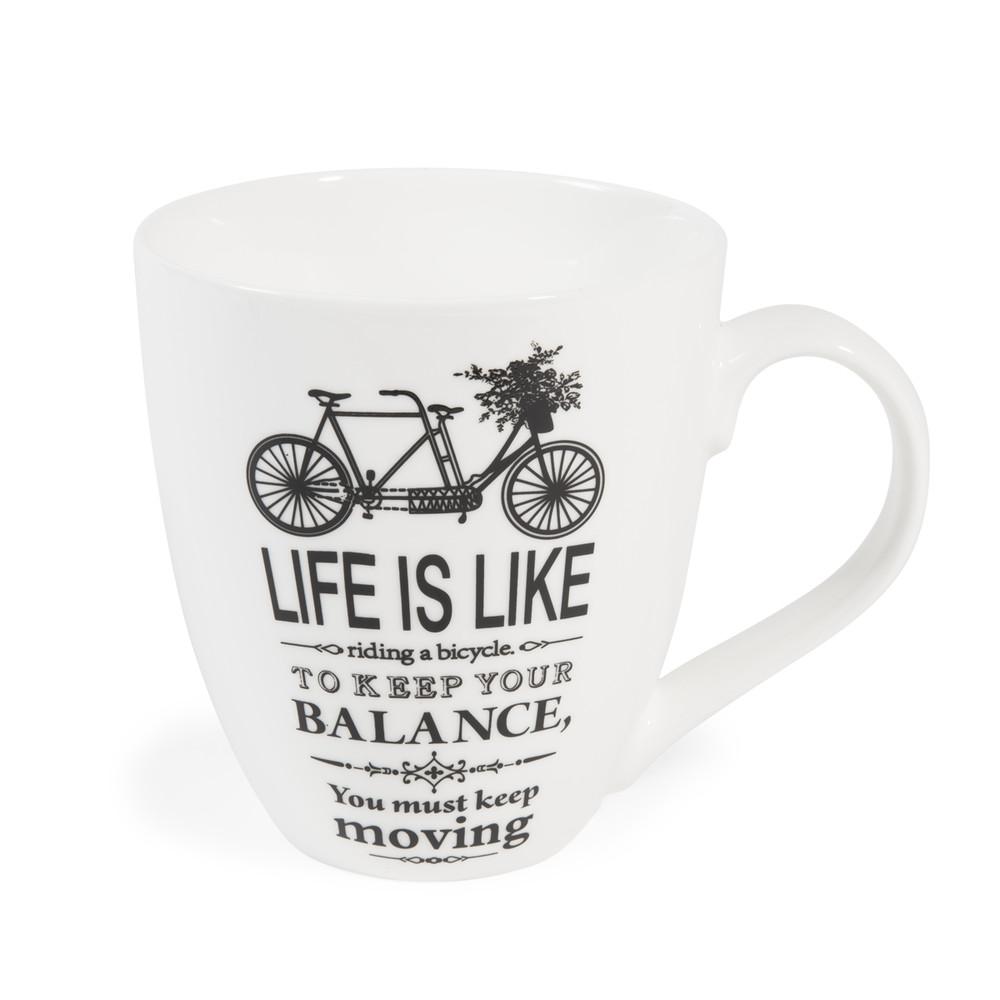 imagine porcelain bike mug maisons du monde. Black Bedroom Furniture Sets. Home Design Ideas