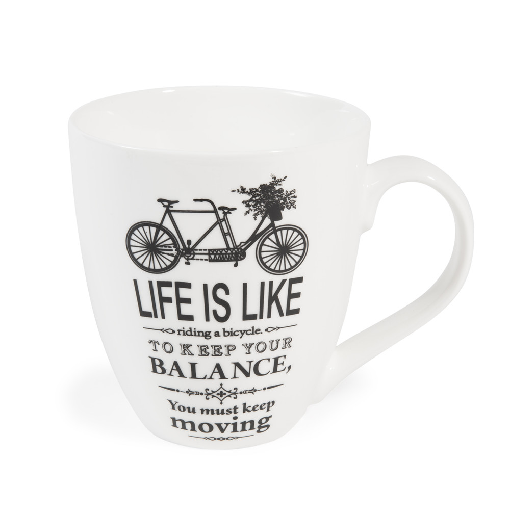 Imagine porcelain bike mug maisons du monde - Maison du monde mug ...