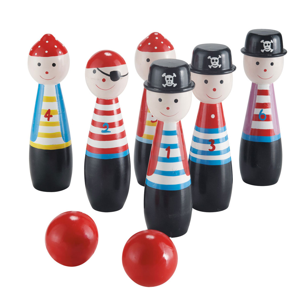 Jeu de 6 quilles pirate maisons du monde for Decoration quille de bowling