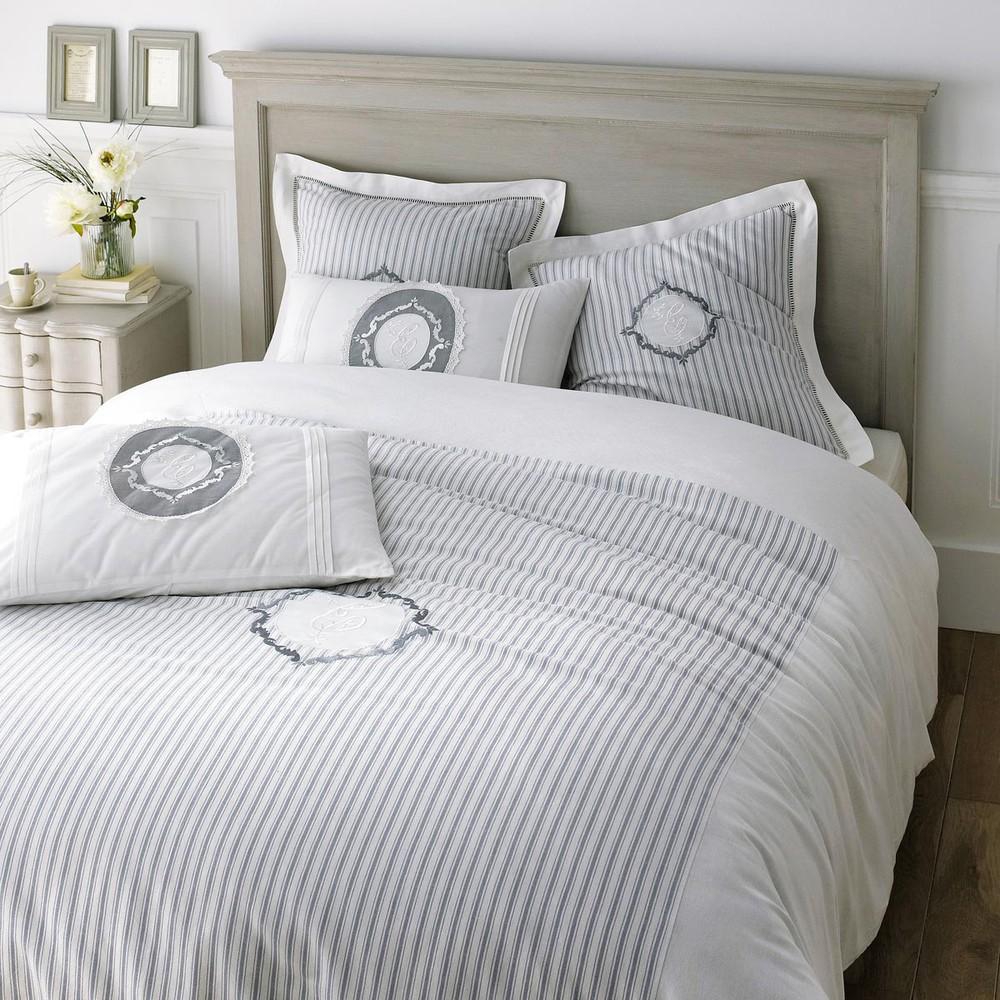 Juego de cama funda de edred n 240x220 4 fundas de almohada elegante maisons du monde - Fundas para cama ...