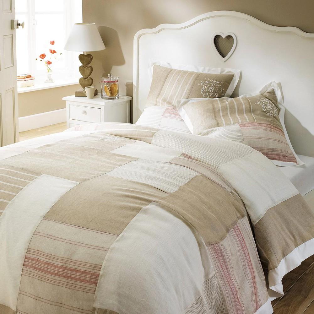 Juego de cama funda de edred n rojo 240x220 2 fundas de almohada colombage maisons du monde - Fundas para cama ...