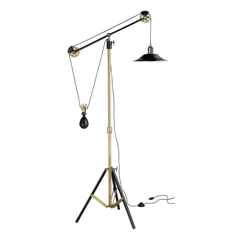 Julius adjustable tripod floor lamp in bronze effect metal h 178cm maisons - Maison du monde lampes ...