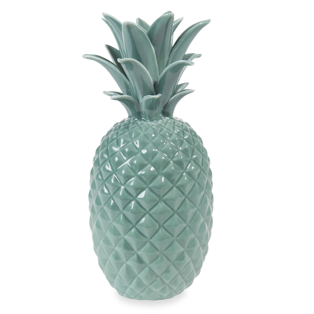 jungle ceramic pineapple ornament green h 24 cm. Black Bedroom Furniture Sets. Home Design Ideas