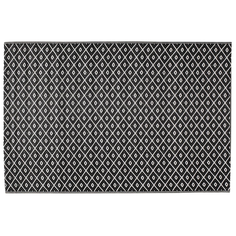 Polypropylene outdoor rug in black white 120x180 kamari maisons du monde