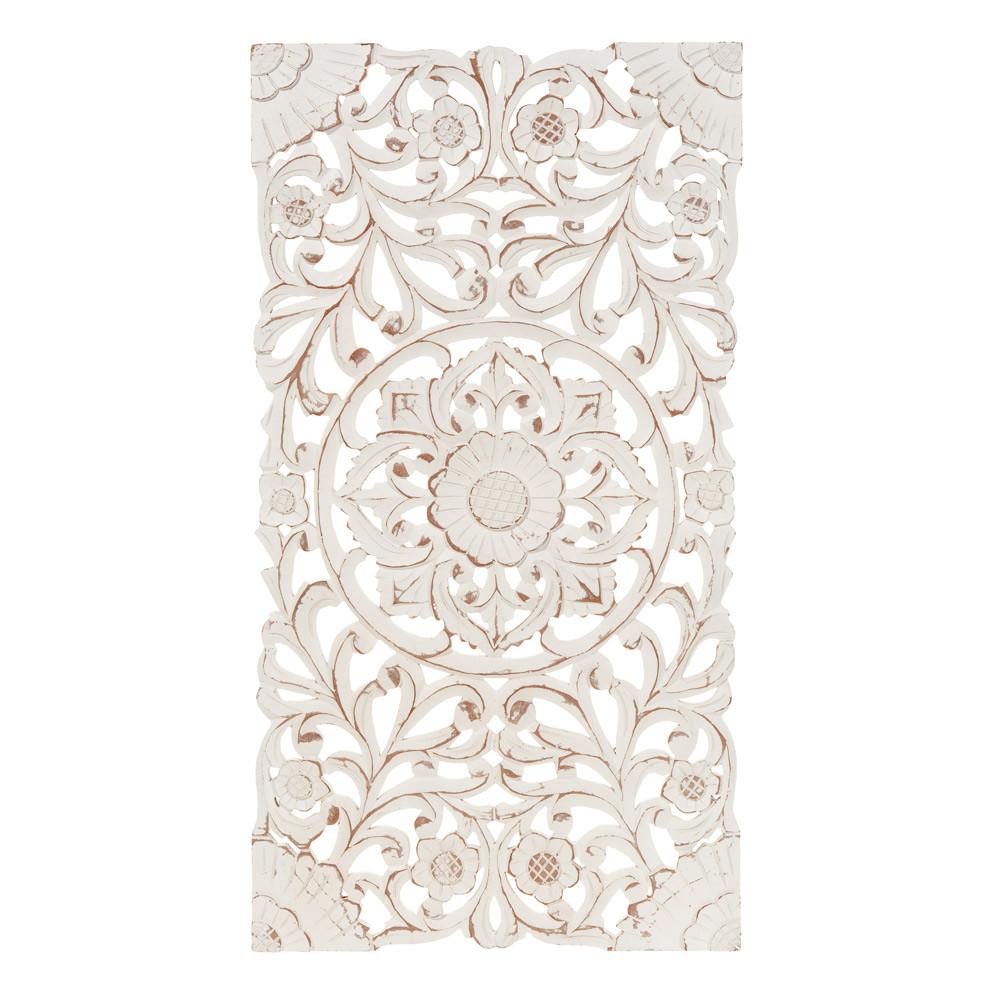 kerala whitewashed wall panel 45 x 85 cm maisons du monde. Black Bedroom Furniture Sets. Home Design Ideas