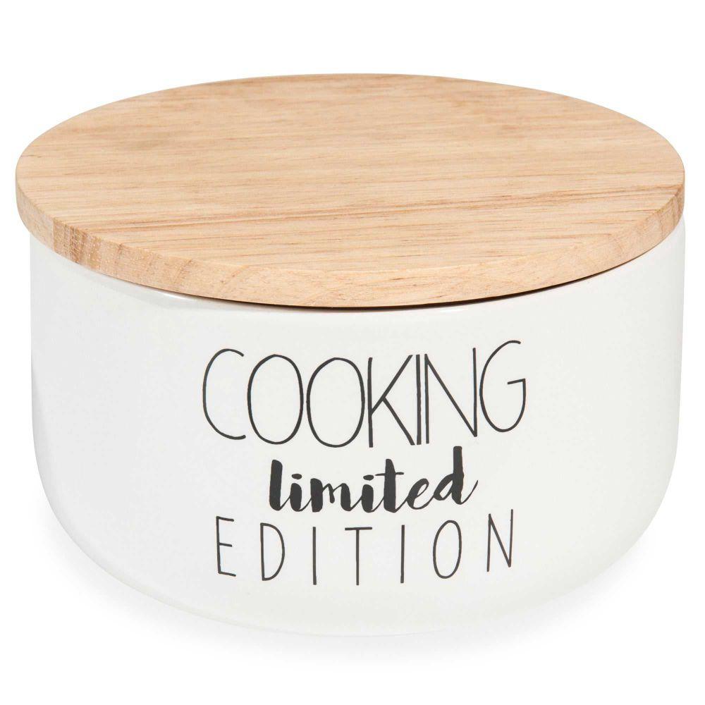 keramikdose h 8 cm cooking edition maisons du monde. Black Bedroom Furniture Sets. Home Design Ideas