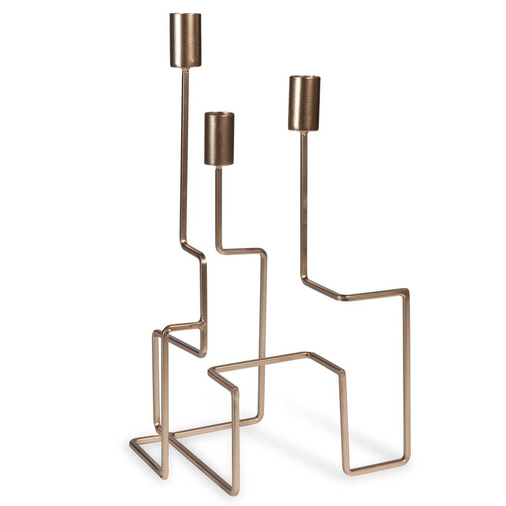 kerzenhalter aus metall goldfarben h 35 cm gold palermo maisons du monde. Black Bedroom Furniture Sets. Home Design Ideas