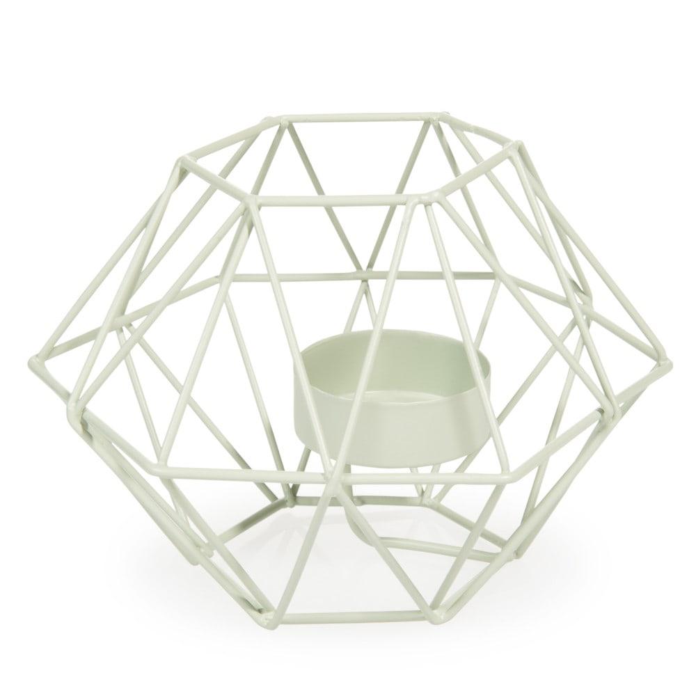 kerzenhalter upblown aus metall h 9 cm gr n maisons du monde. Black Bedroom Furniture Sets. Home Design Ideas