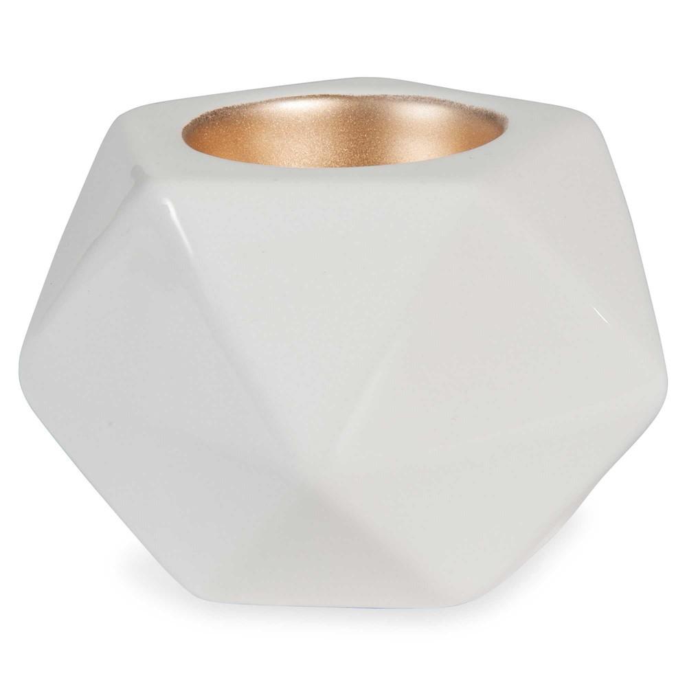 kerzenhalter wei h 7 cm origami maisons du monde. Black Bedroom Furniture Sets. Home Design Ideas