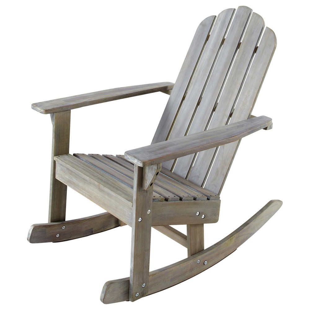 kid s grey wood garden rocking chair ontario ontario. Black Bedroom Furniture Sets. Home Design Ideas