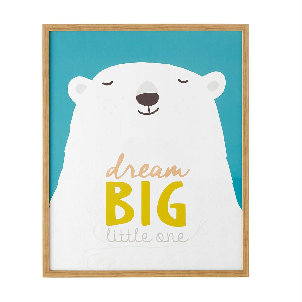 Simple kimo polar bear wall art x cm with logo maison du monde for Logo maison du monde