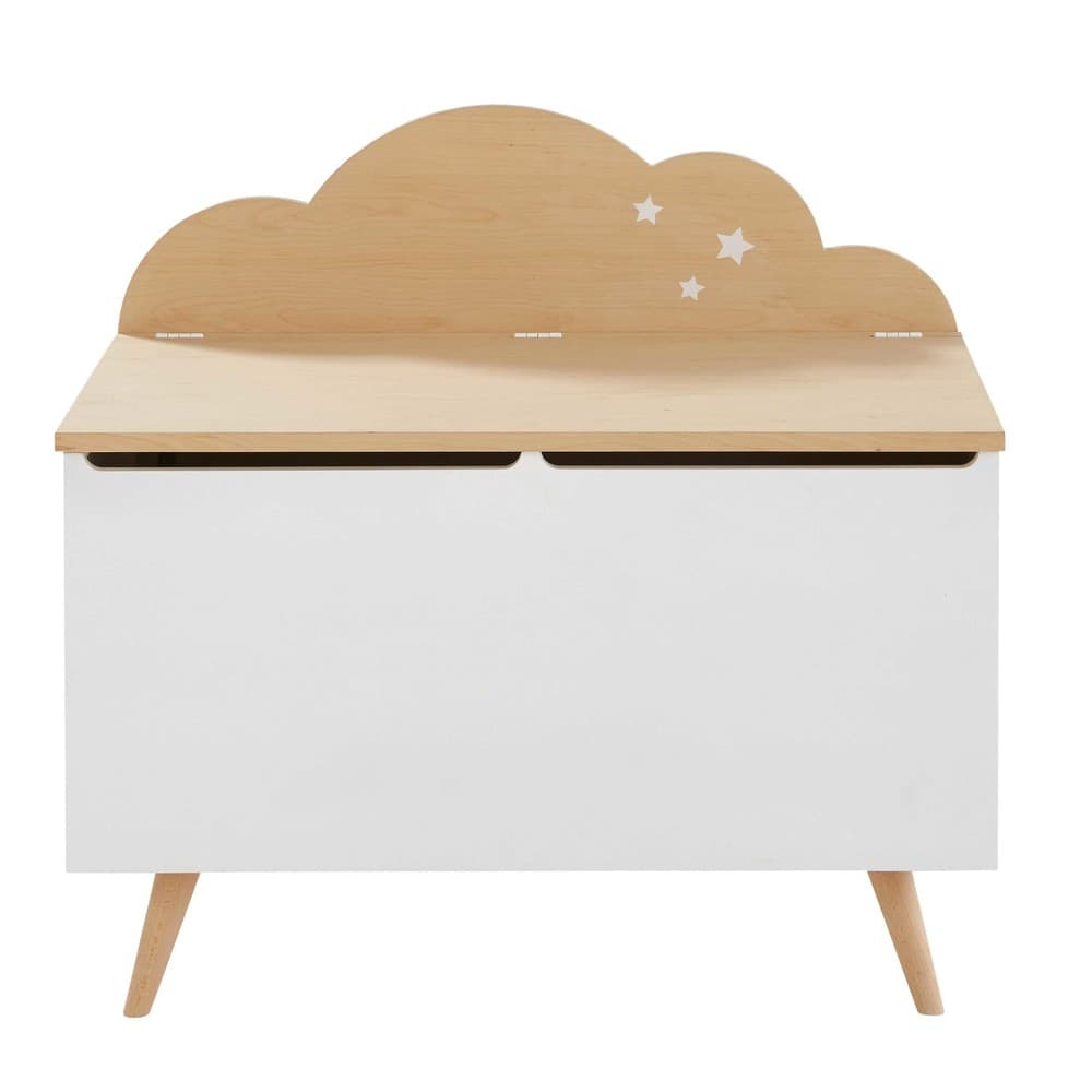 kinder truhe wolke zweifarbig moonlight maisons du monde. Black Bedroom Furniture Sets. Home Design Ideas