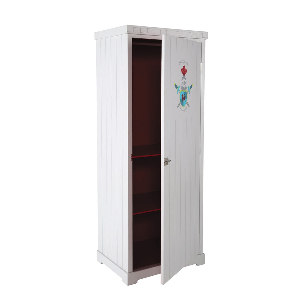 kinderkleiderschrank aus metall b 85 cm rot chevalier maisons du monde. Black Bedroom Furniture Sets. Home Design Ideas