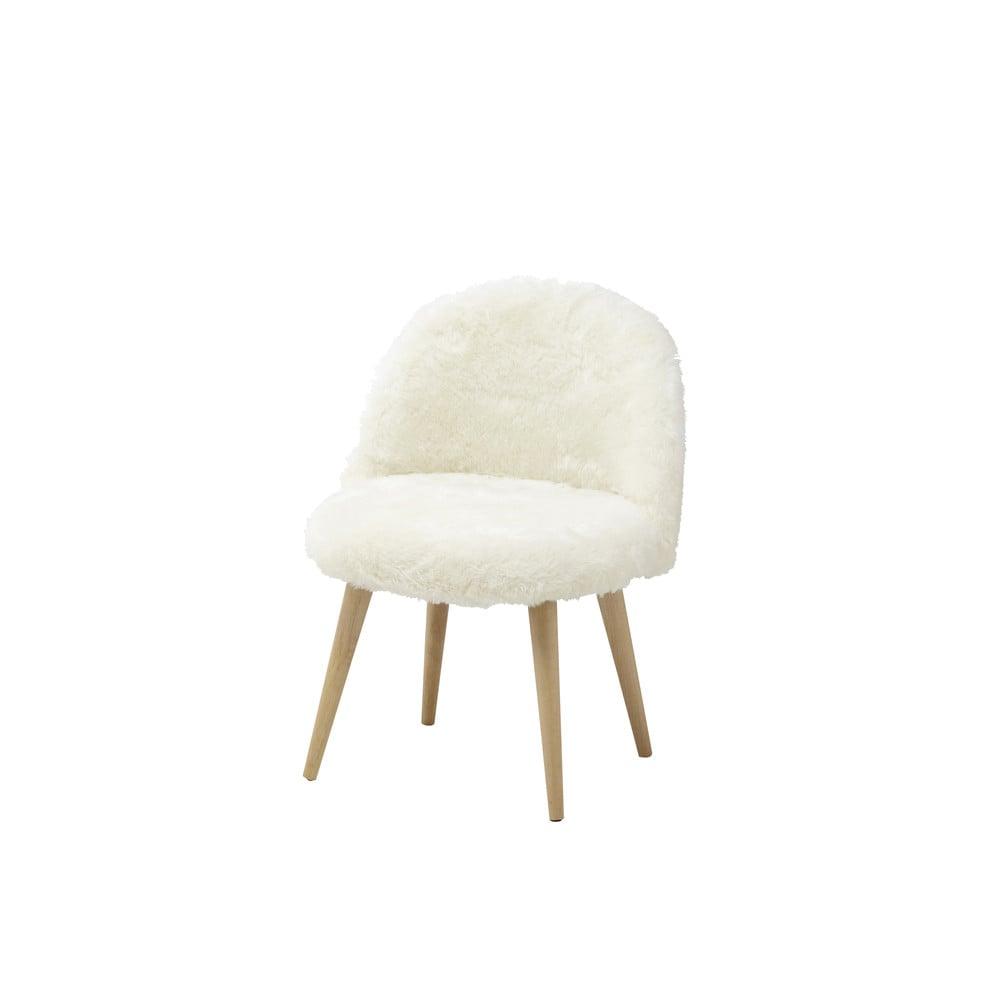 Kinderstoel vintage stijl massief berken met imitatiebont ivoor mauricette maisons du monde - Kamer kinderstoel ...