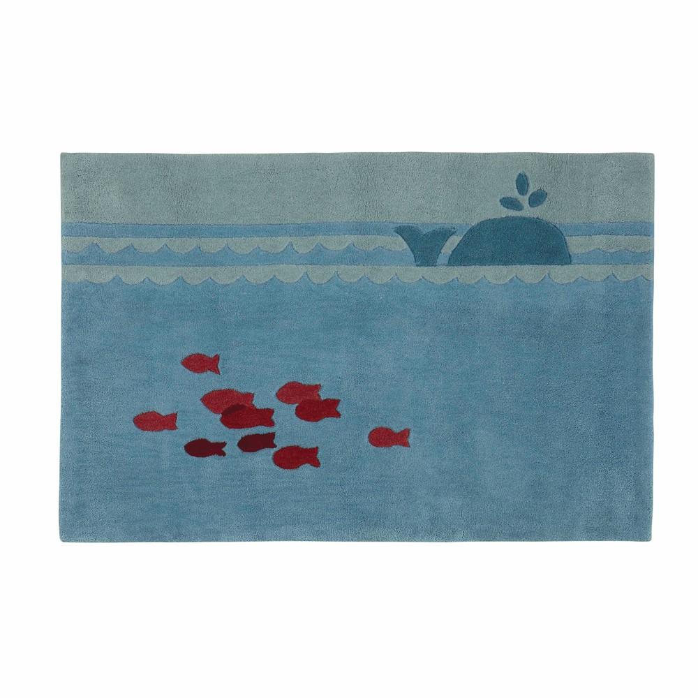 Kinderteppich blau 80 x 120 cm  Maisons du Monde