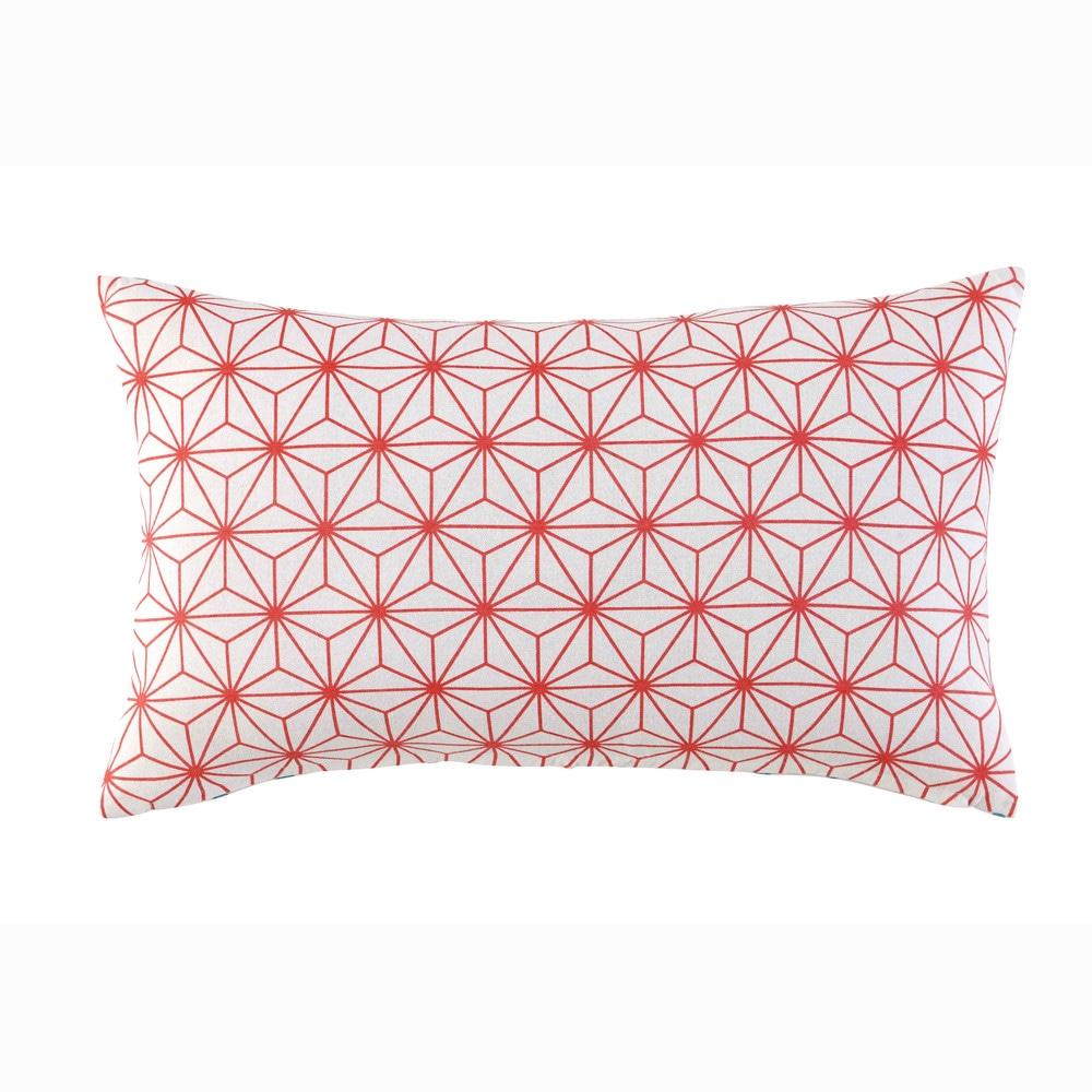 kissen aus baumwolle blau rot 30 x 50 cm kimono maisons du monde. Black Bedroom Furniture Sets. Home Design Ideas