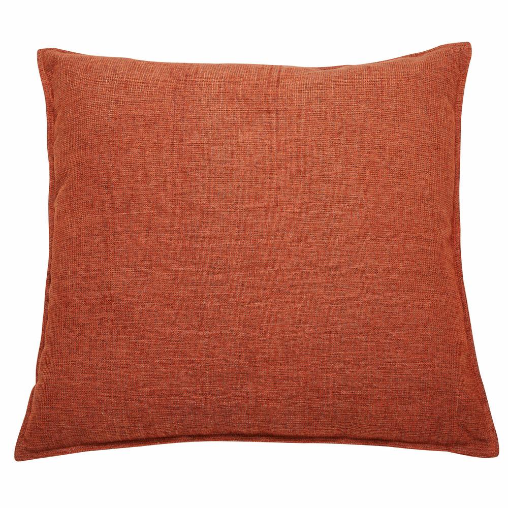 kissen aus stoff ziegelrot 60x60cm chenille maisons du monde. Black Bedroom Furniture Sets. Home Design Ideas