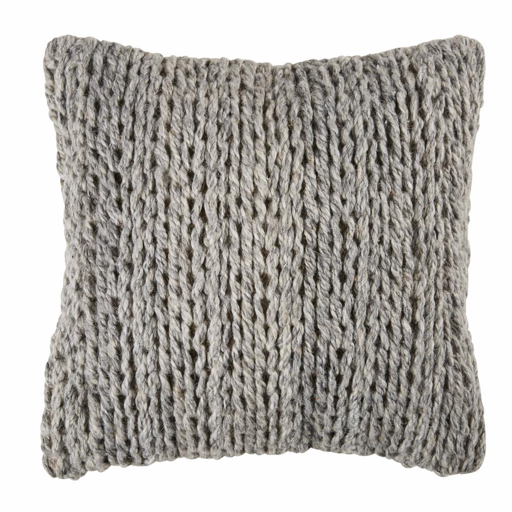 kissen aus wolle und baumwolle zweifarbig 45x45 dry maisons du monde. Black Bedroom Furniture Sets. Home Design Ideas