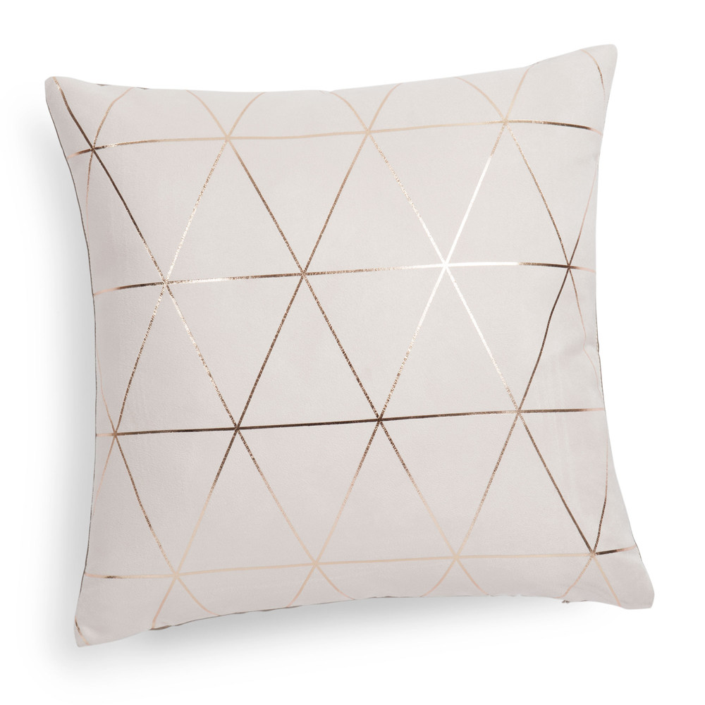 kissen beige goldfarben 40 x 40 cm queens maisons du monde. Black Bedroom Furniture Sets. Home Design Ideas
