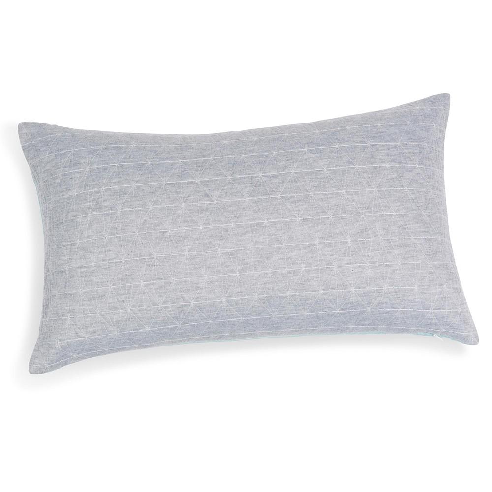 kissen blau grau 30 x 50 cm elua maisons du monde. Black Bedroom Furniture Sets. Home Design Ideas