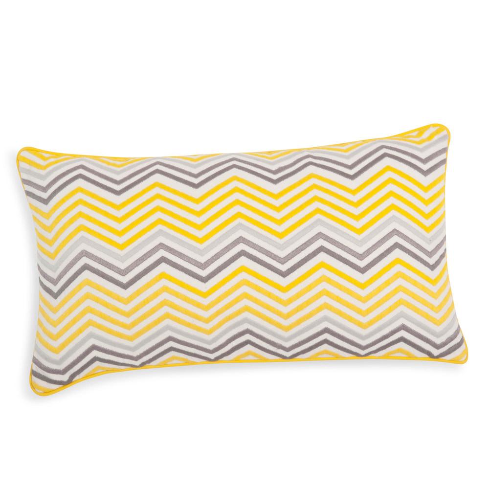kissenbezug aus baumwolle gelb grau 30 x 50 cm caparica. Black Bedroom Furniture Sets. Home Design Ideas