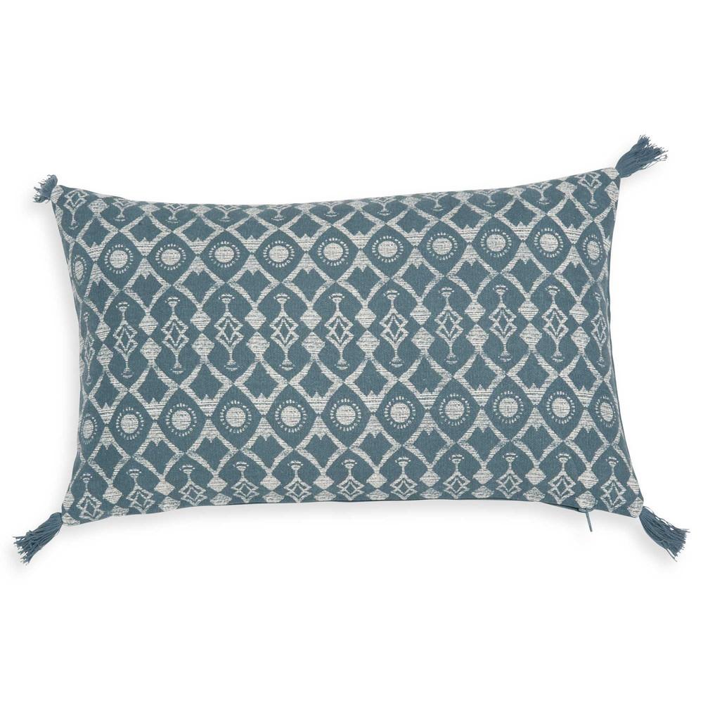 kissenbezug aus t rkisblauer baumwolle 40x40 cm gruissan. Black Bedroom Furniture Sets. Home Design Ideas