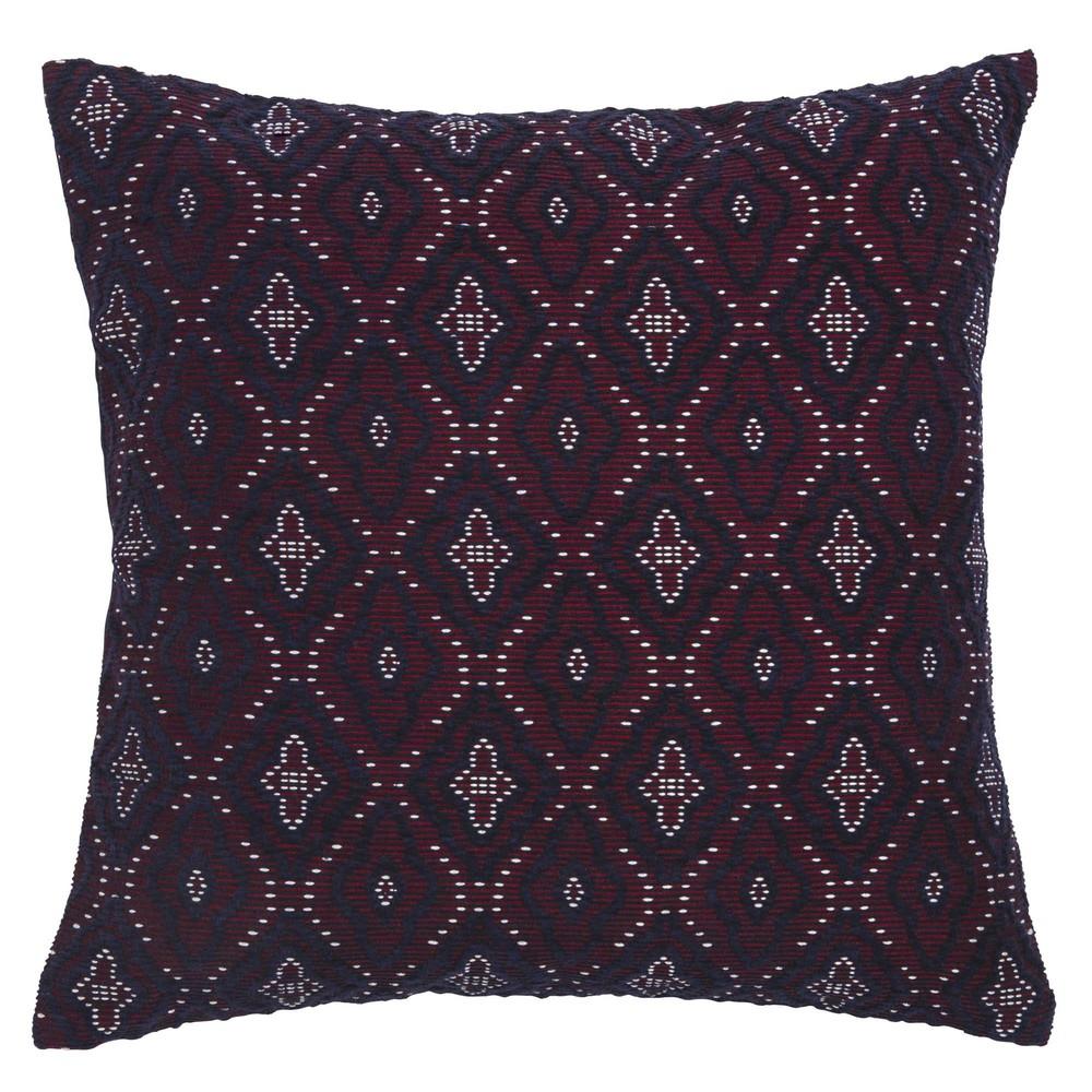 kissenbezug aus violetter baumwolle mit motiven 40x40 maisons du monde. Black Bedroom Furniture Sets. Home Design Ideas