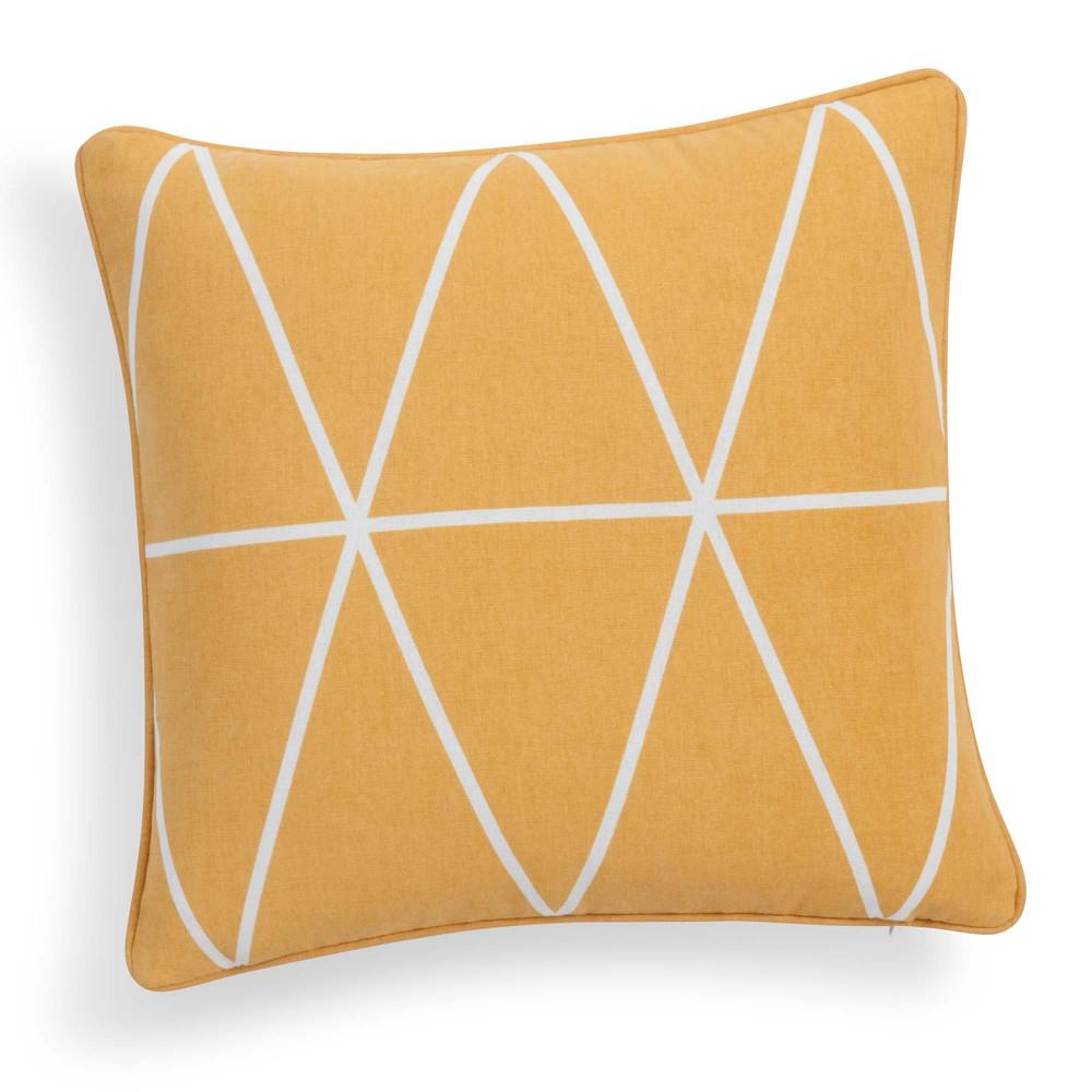 kissenbezug steve aus baumwolle 40 x 40 cm senfgelb maisons du monde. Black Bedroom Furniture Sets. Home Design Ideas