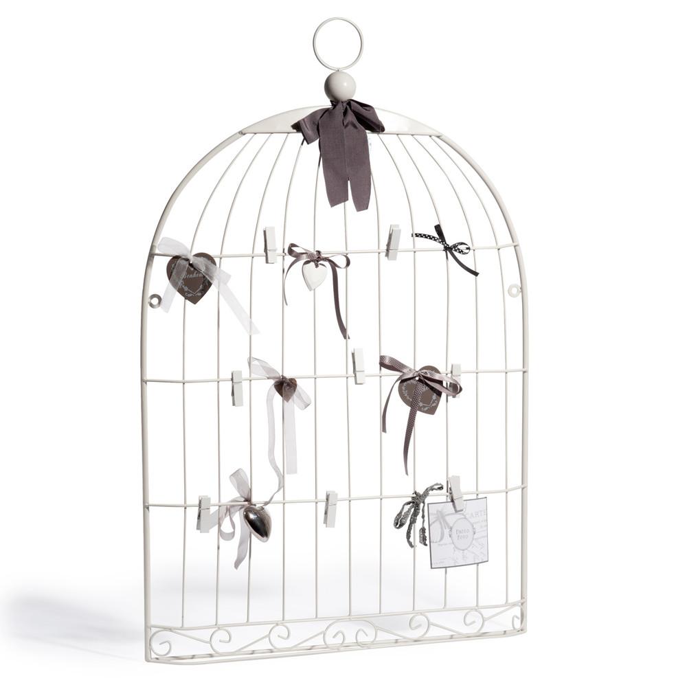 klammerwand oiseau aus metall 51 x 80 cm wei maisons du monde. Black Bedroom Furniture Sets. Home Design Ideas