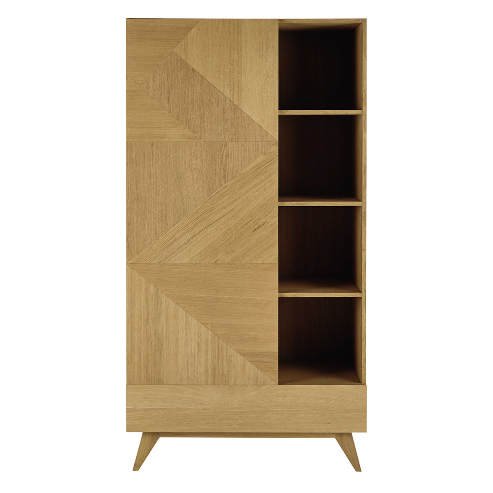 kleiderschrank im vintage stil mit einer t r und einer schublade origami maisons du monde. Black Bedroom Furniture Sets. Home Design Ideas