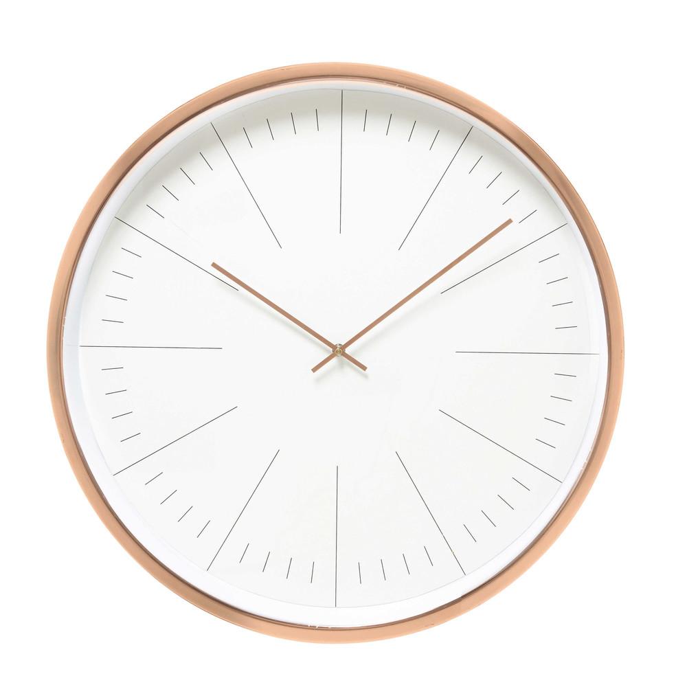 Klok koperkleurig metaal diameter 61 cm l a maisons du monde - Klok cm ...