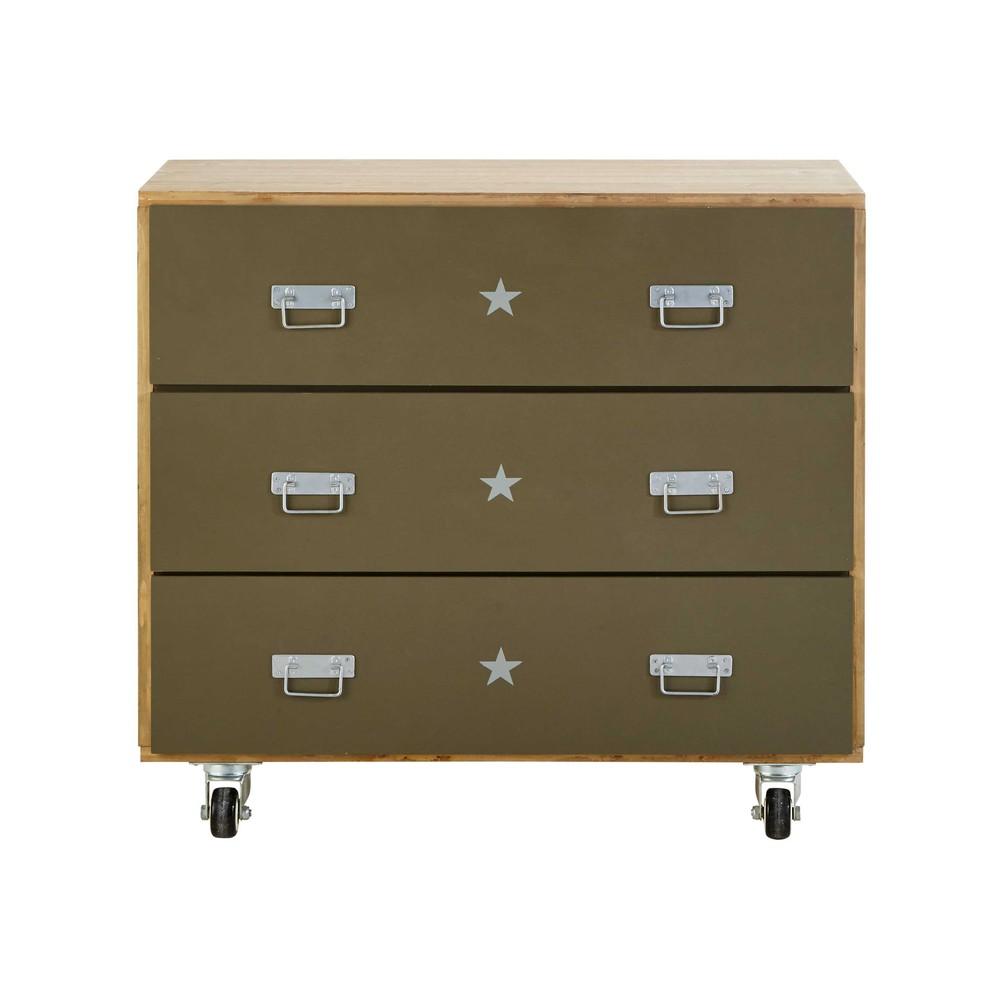 kommode auf rollen aus holz kakigr n l 90 cm douglas. Black Bedroom Furniture Sets. Home Design Ideas