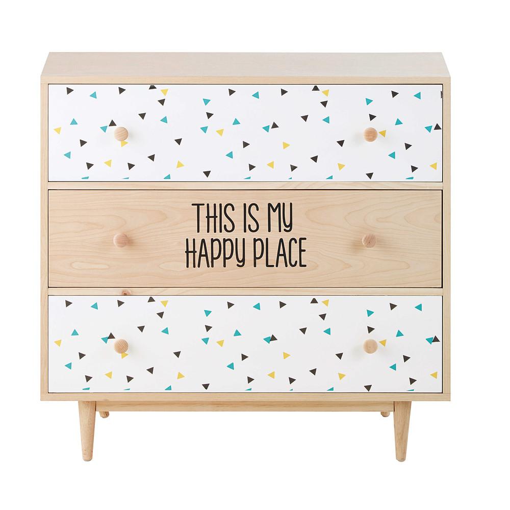 kommode aus holz l 83 cm graphikids maisons du monde. Black Bedroom Furniture Sets. Home Design Ideas