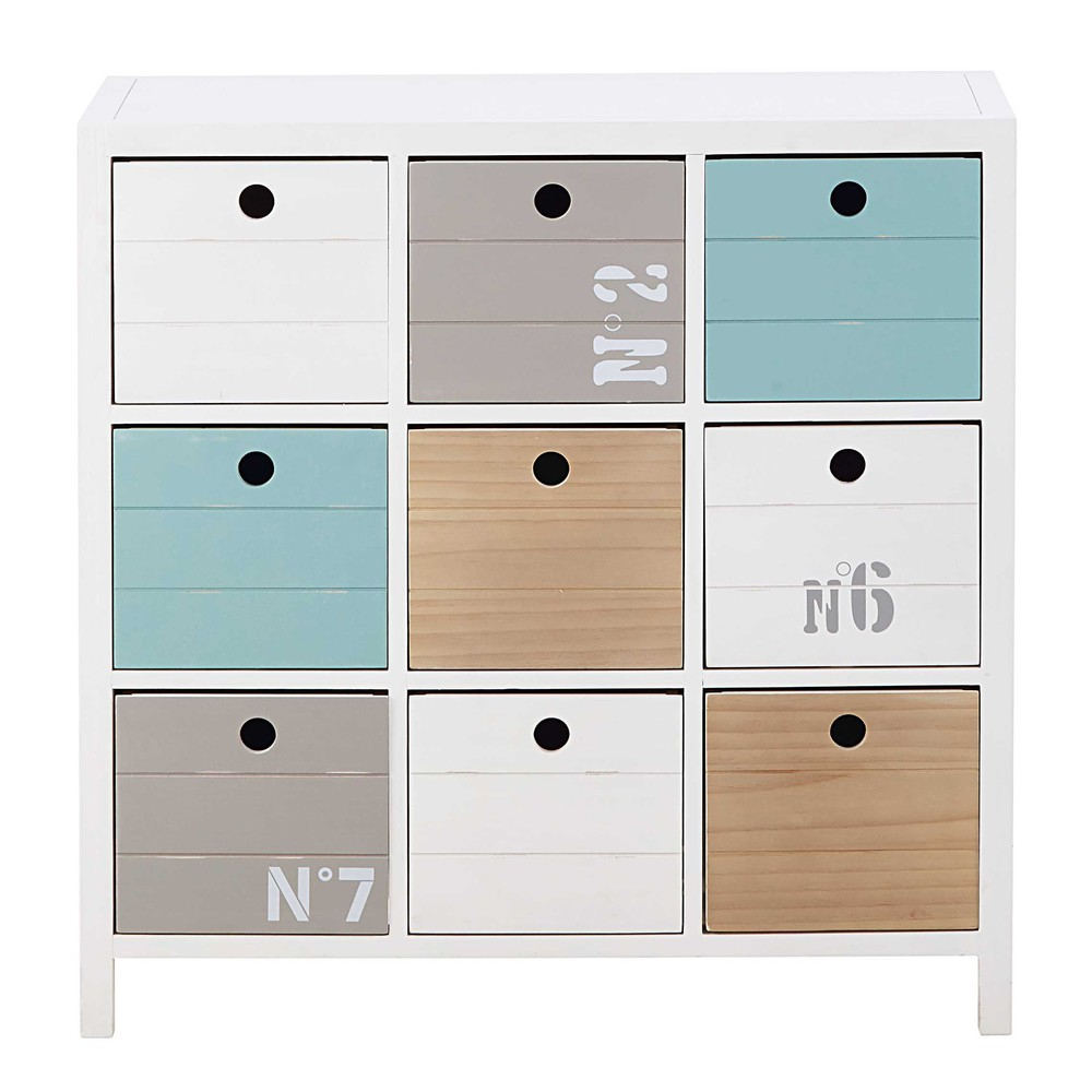 kommode aus holz wei l 78 cm oc an maisons du monde. Black Bedroom Furniture Sets. Home Design Ideas