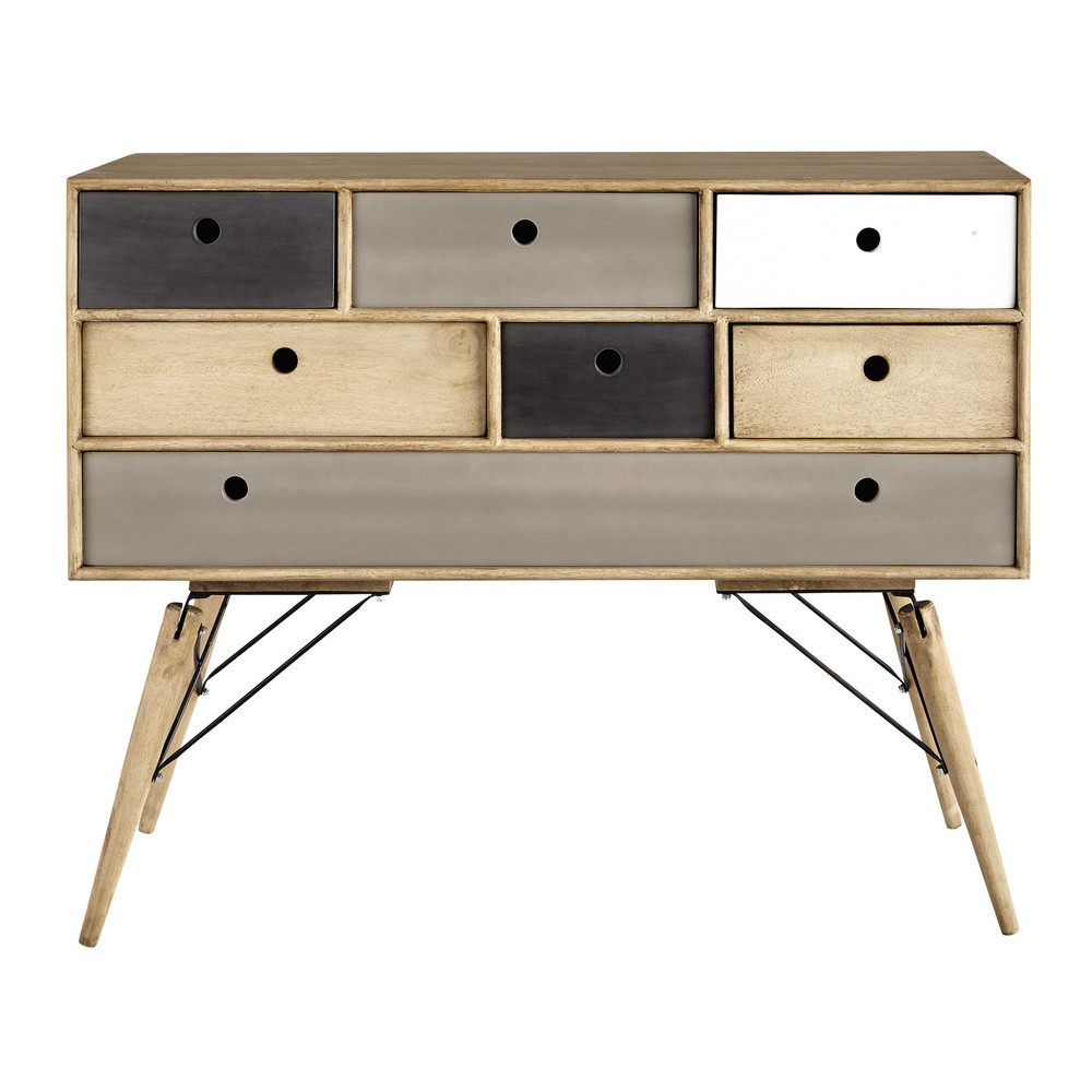 kommode im vintage stil aus massivem mangoholz b 120 cm. Black Bedroom Furniture Sets. Home Design Ideas