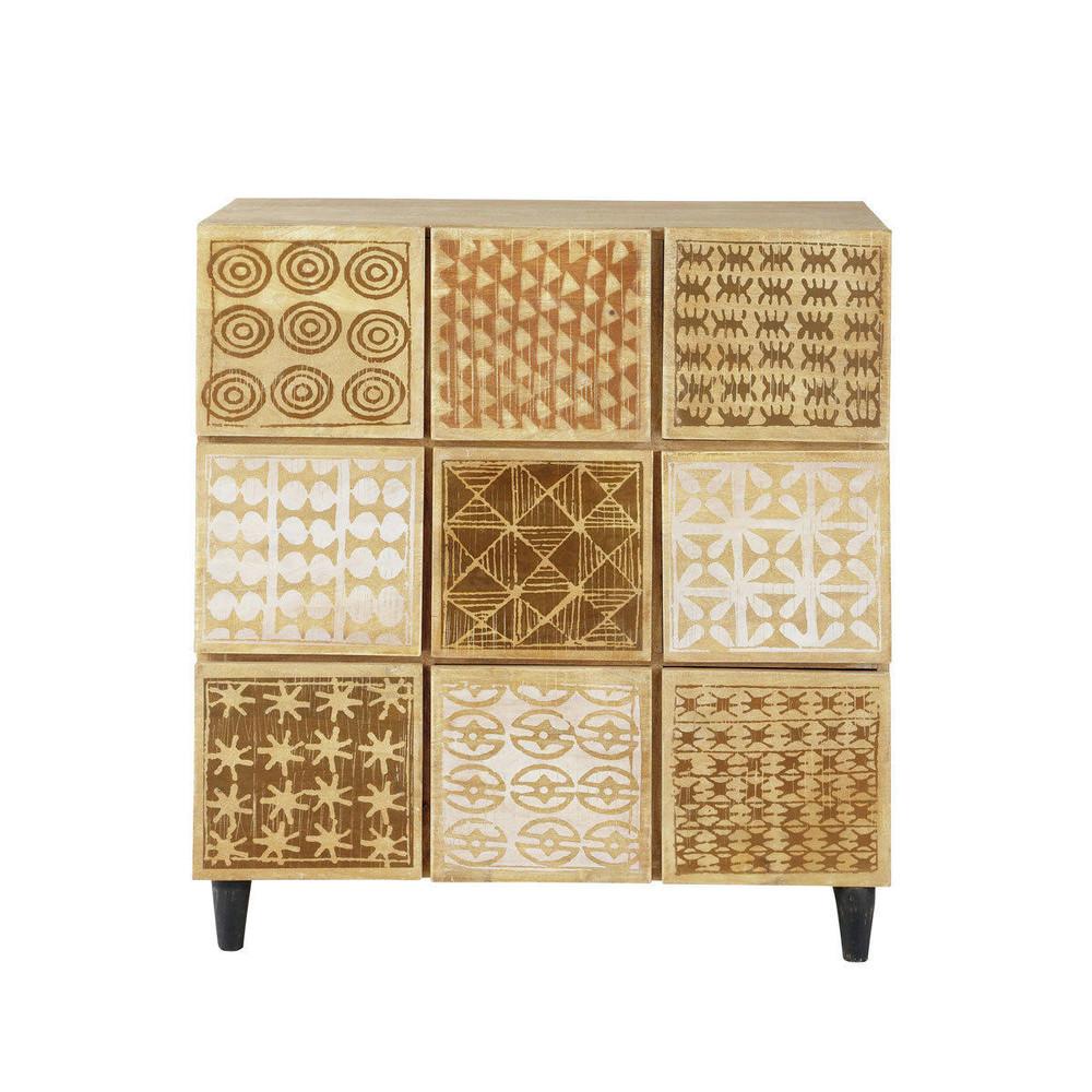 kommode schubladenschrank mit vielen schubladen serengeti serengeti maisons du monde. Black Bedroom Furniture Sets. Home Design Ideas