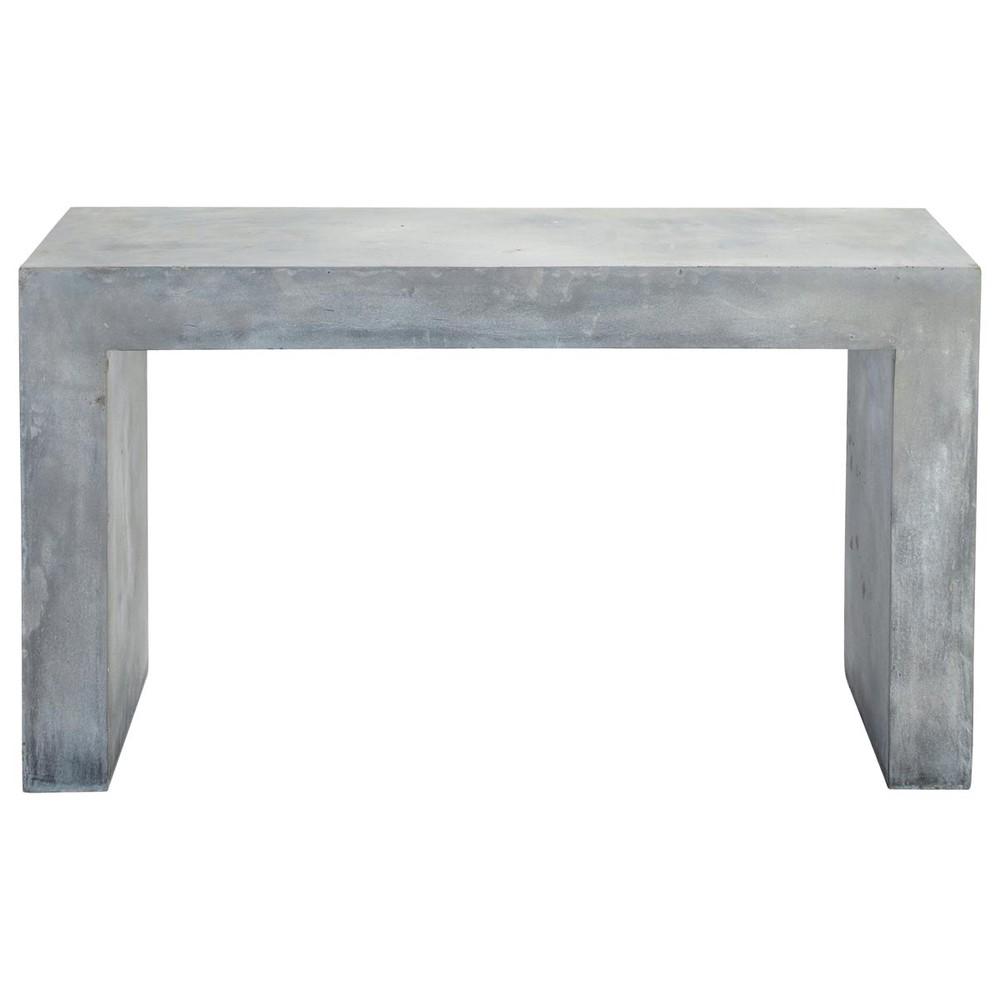 konsolentisch aus magnesia in betonoptik b 135 cm grau. Black Bedroom Furniture Sets. Home Design Ideas