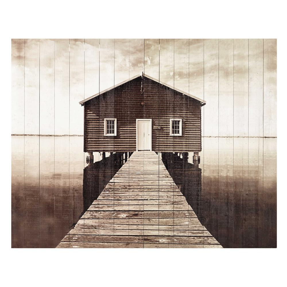 kopfteil 140 cm aus holzlatten seaside maisons du monde. Black Bedroom Furniture Sets. Home Design Ideas