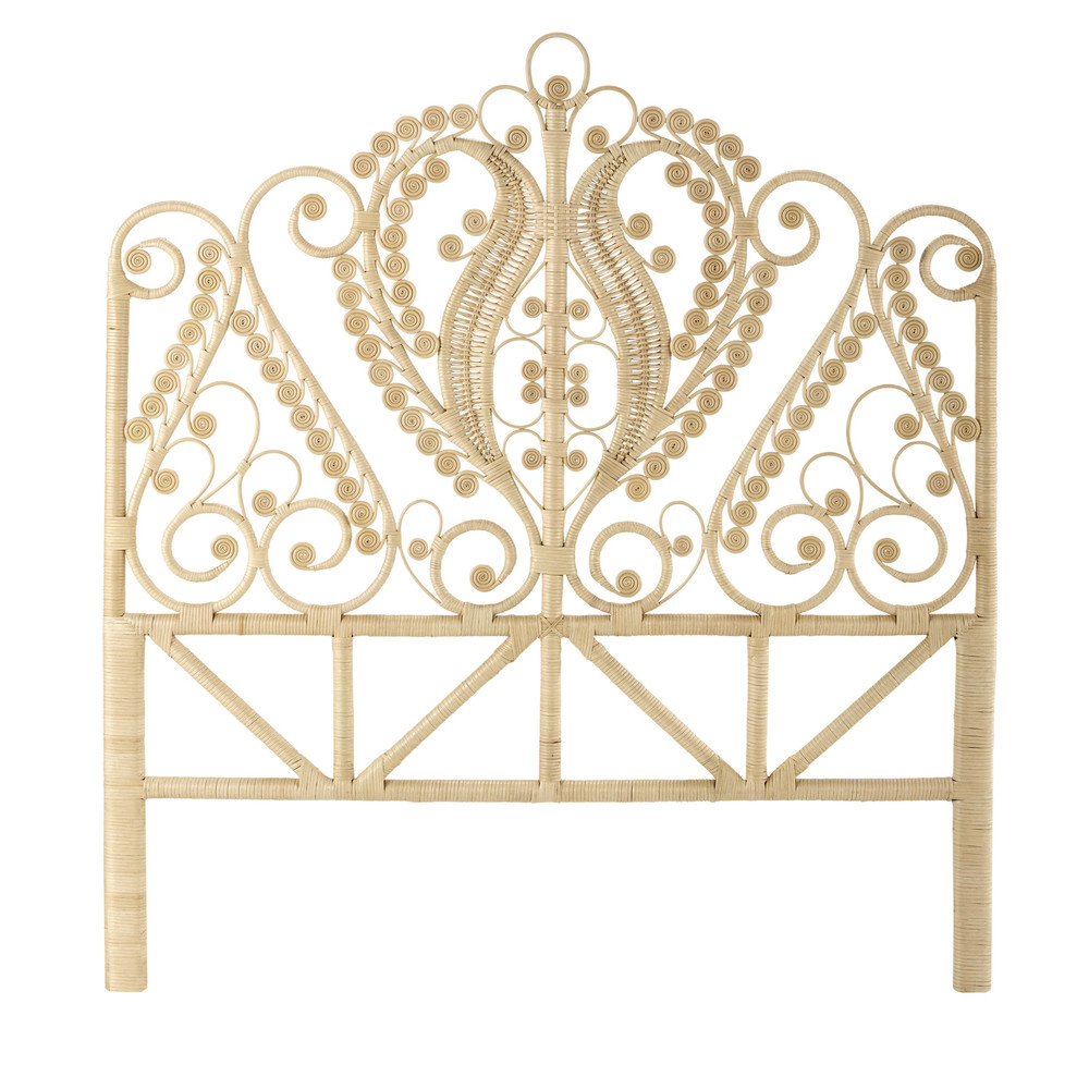 kopfteil 140 cm aus rattan peacock maisons du monde. Black Bedroom Furniture Sets. Home Design Ideas