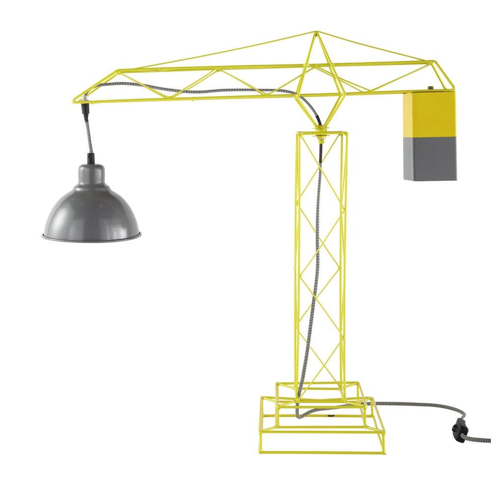 kran lampe gelb skywalk maisons du monde. Black Bedroom Furniture Sets. Home Design Ideas